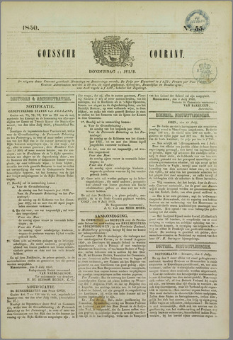 Goessche Courant 1850-07-11