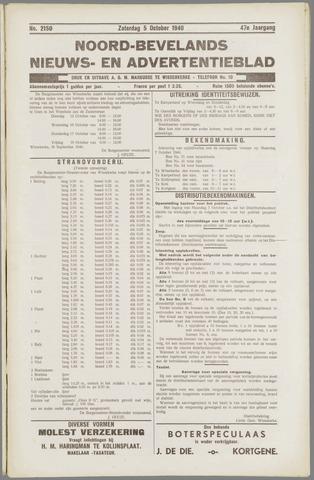 Noord-Bevelands Nieuws- en advertentieblad 1940-10-05