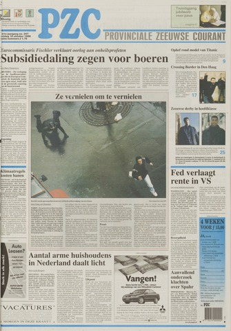Provinciale Zeeuwse Courant 1998-10-16
