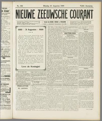 Nieuwe Zeeuwsche Courant 1909-08-31