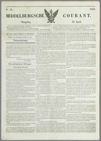 Middelburgsche Courant 1857-04-28