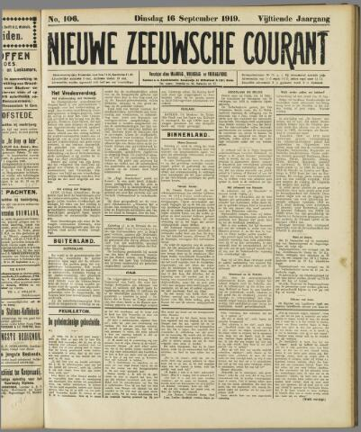 Nieuwe Zeeuwsche Courant 1919-09-16