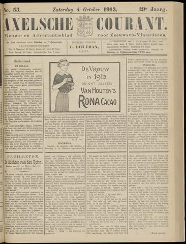 Axelsche Courant 1913-10-04
