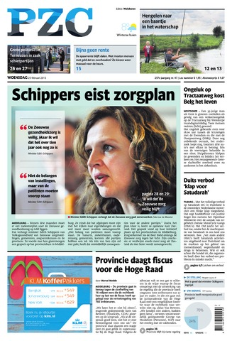Provinciale Zeeuwse Courant 2015-02-25