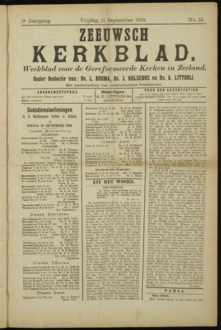 Zeeuwsche kerkbode, weekblad gewijd aan de belangen der gereformeerde kerken/ Zeeuwsch kerkblad 1903-09-11