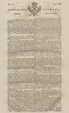 Middelburgsche Courant 1758-11-04