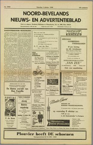 Noord-Bevelands Nieuws- en advertentieblad 1958-10-04