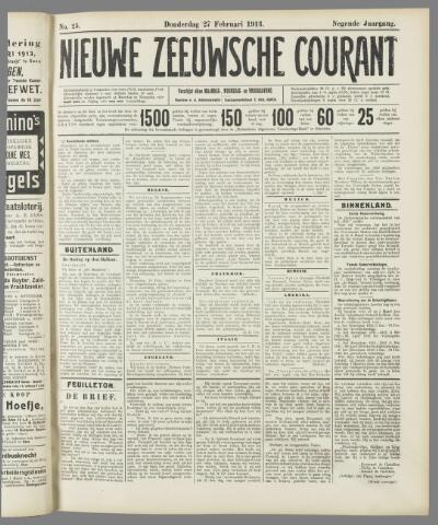 Nieuwe Zeeuwsche Courant 1913-02-27
