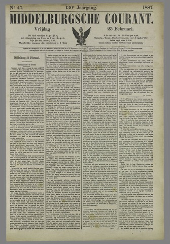 Middelburgsche Courant 1887-02-25