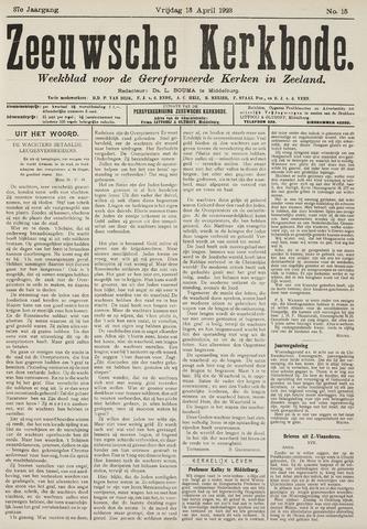 Zeeuwsche kerkbode, weekblad gewijd aan de belangen der gereformeerde kerken/ Zeeuwsch kerkblad 1923-04-13