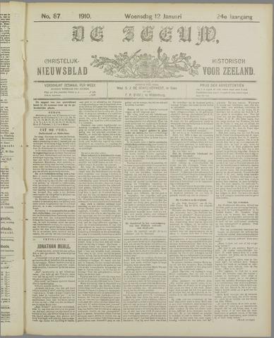 De Zeeuw. Christelijk-historisch nieuwsblad voor Zeeland 1910-01-12