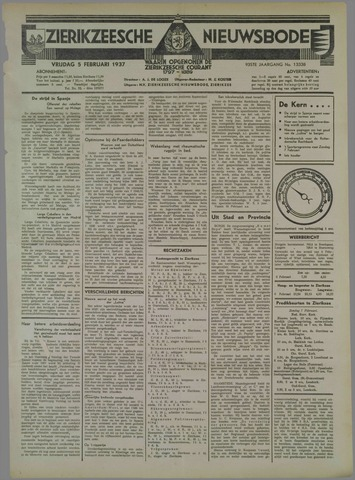 Zierikzeesche Nieuwsbode 1937-02-05