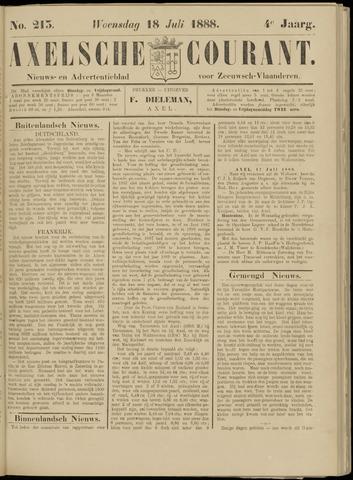 Axelsche Courant 1888-07-18