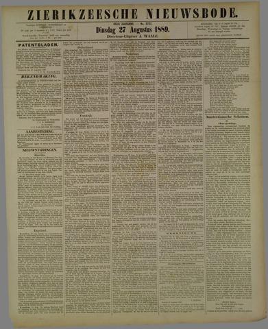 Zierikzeesche Nieuwsbode 1889-08-27
