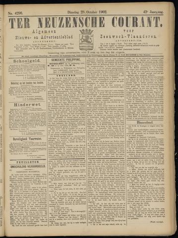 Ter Neuzensche Courant. Algemeen Nieuws- en Advertentieblad voor Zeeuwsch-Vlaanderen / Neuzensche Courant ... (idem) / (Algemeen) nieuws en advertentieblad voor Zeeuwsch-Vlaanderen 1902-10-28