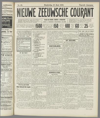 Nieuwe Zeeuwsche Courant 1913-06-12