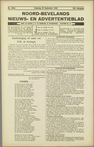 Noord-Bevelands Nieuws- en advertentieblad 1938-09-10