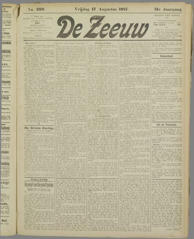 De Zeeuw. Christelijk-historisch nieuwsblad voor Zeeland 1917-08-17