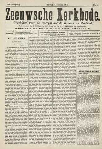 Zeeuwsche kerkbode, weekblad gewijd aan de belangen der gereformeerde kerken/ Zeeuwsch kerkblad 1916