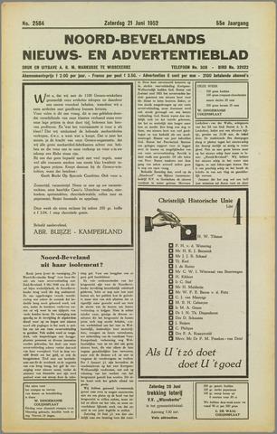 Noord-Bevelands Nieuws- en advertentieblad 1952-06-21