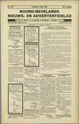 Noord-Bevelands Nieuws- en advertentieblad 1945-04-21
