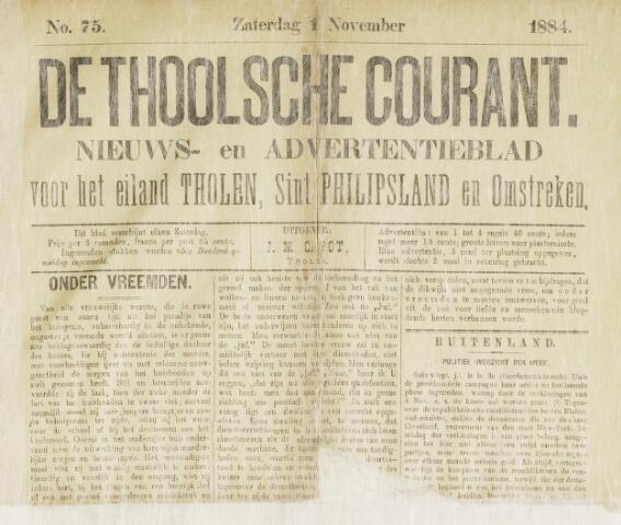 Ierseksche en Thoolsche Courant 1884-11-01