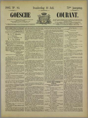 Goessche Courant 1885-07-16
