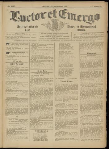 Luctor et Emergo. Antirevolutionair nieuws- en advertentieblad voor Zeeland / Zeeuwsch-Vlaanderen. Orgaan ter verspreiding van de christelijke beginselen in Zeeuwsch-Vlaanderen 1915-12-25