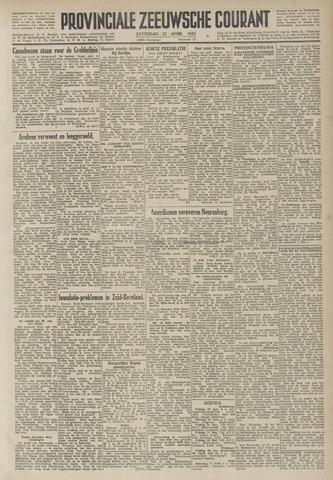 Provinciale Zeeuwse Courant 1945-04-21