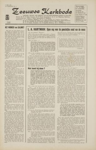 Zeeuwsche kerkbode, weekblad gewijd aan de belangen der gereformeerde kerken/ Zeeuwsch kerkblad 1966-07-07