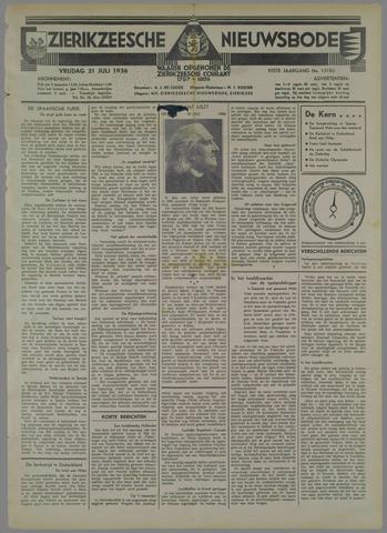 Zierikzeesche Nieuwsbode 1936-07-31