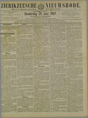 Zierikzeesche Nieuwsbode 1907-06-20