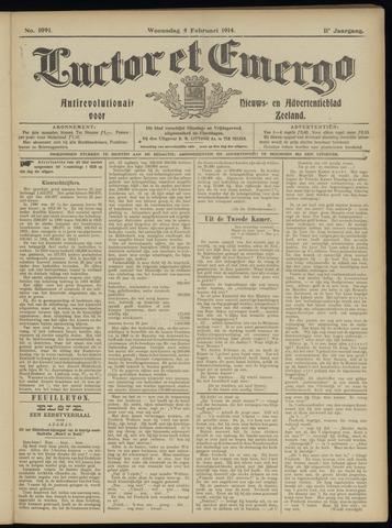 Luctor et Emergo. Antirevolutionair nieuws- en advertentieblad voor Zeeland / Zeeuwsch-Vlaanderen. Orgaan ter verspreiding van de christelijke beginselen in Zeeuwsch-Vlaanderen 1914-02-04