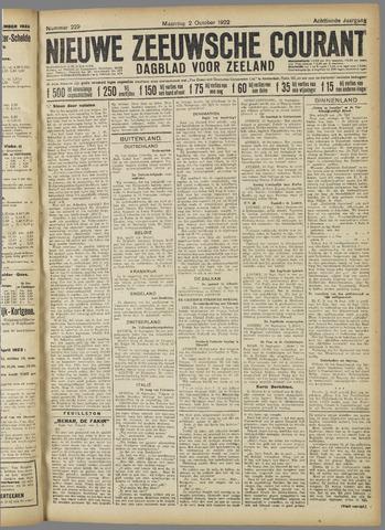 Nieuwe Zeeuwsche Courant 1922-10-02