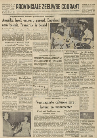 Provinciale Zeeuwse Courant 1958-07-22