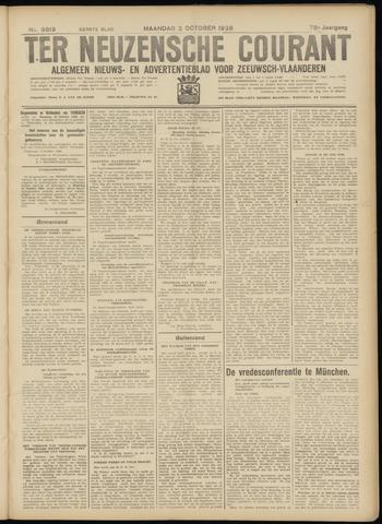 Ter Neuzensche Courant. Algemeen Nieuws- en Advertentieblad voor Zeeuwsch-Vlaanderen / Neuzensche Courant ... (idem) / (Algemeen) nieuws en advertentieblad voor Zeeuwsch-Vlaanderen 1938-10-03