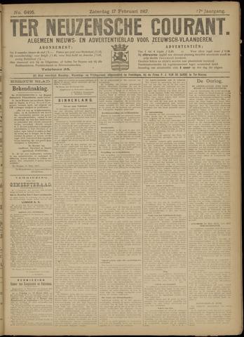 Ter Neuzensche Courant. Algemeen Nieuws- en Advertentieblad voor Zeeuwsch-Vlaanderen / Neuzensche Courant ... (idem) / (Algemeen) nieuws en advertentieblad voor Zeeuwsch-Vlaanderen 1917-02-17