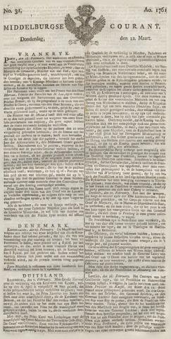 Middelburgsche Courant 1761-03-12