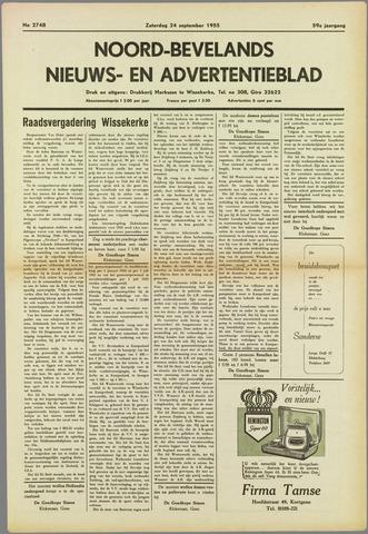 Noord-Bevelands Nieuws- en advertentieblad 1955-09-24