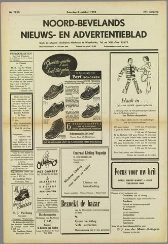 Noord-Bevelands Nieuws- en advertentieblad 1955-10-08