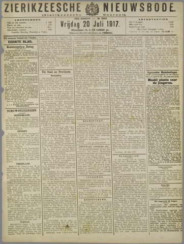 Zierikzeesche Nieuwsbode 1917-07-20