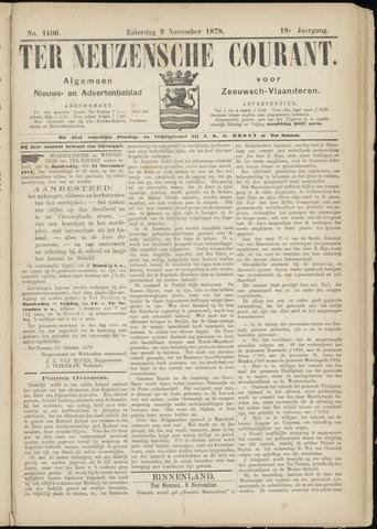 Ter Neuzensche Courant. Algemeen Nieuws- en Advertentieblad voor Zeeuwsch-Vlaanderen / Neuzensche Courant ... (idem) / (Algemeen) nieuws en advertentieblad voor Zeeuwsch-Vlaanderen 1878-11-09
