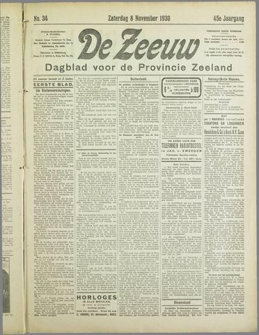 De Zeeuw. Christelijk-historisch nieuwsblad voor Zeeland 1930-11-08