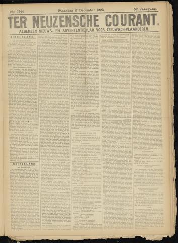 Ter Neuzensche Courant. Algemeen Nieuws- en Advertentieblad voor Zeeuwsch-Vlaanderen / Neuzensche Courant ... (idem) / (Algemeen) nieuws en advertentieblad voor Zeeuwsch-Vlaanderen 1923-12-17