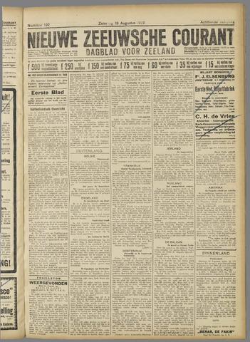 Nieuwe Zeeuwsche Courant 1922-08-19