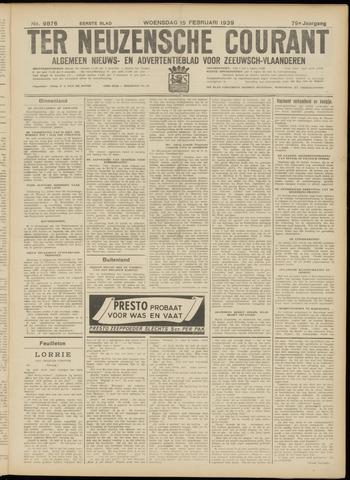 Ter Neuzensche Courant. Algemeen Nieuws- en Advertentieblad voor Zeeuwsch-Vlaanderen / Neuzensche Courant ... (idem) / (Algemeen) nieuws en advertentieblad voor Zeeuwsch-Vlaanderen 1939-02-15