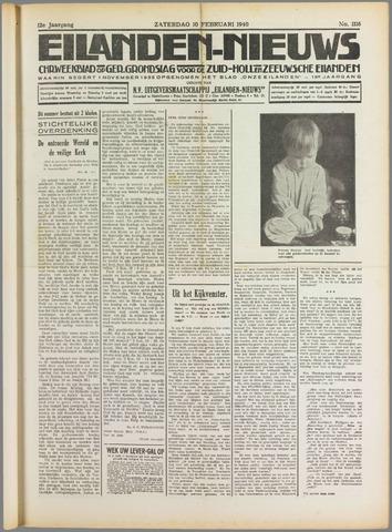 Eilanden-nieuws. Christelijk streekblad op gereformeerde grondslag 1940-02-10