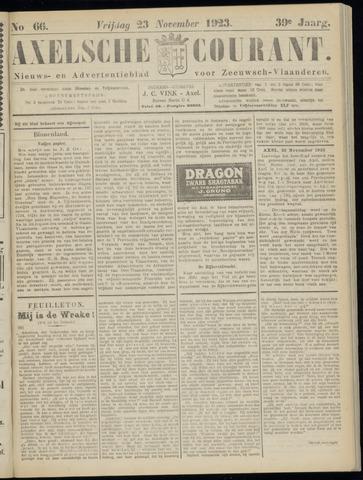 Axelsche Courant 1923-11-23