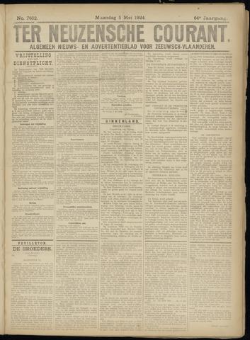 Ter Neuzensche Courant. Algemeen Nieuws- en Advertentieblad voor Zeeuwsch-Vlaanderen / Neuzensche Courant ... (idem) / (Algemeen) nieuws en advertentieblad voor Zeeuwsch-Vlaanderen 1924-05-05