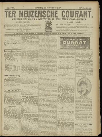 Ter Neuzensche Courant. Algemeen Nieuws- en Advertentieblad voor Zeeuwsch-Vlaanderen / Neuzensche Courant ... (idem) / (Algemeen) nieuws en advertentieblad voor Zeeuwsch-Vlaanderen 1919-11-15